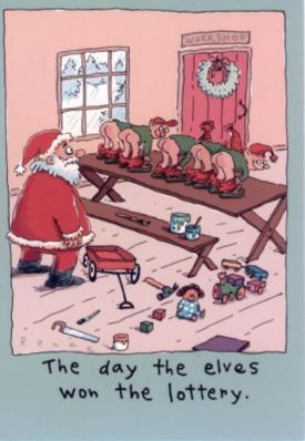 Santa Cartoons Funny Adult